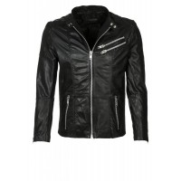 Laverapelle Men's Genuine Cowhide Leather Jacket (Racer Jacket) - 1501400