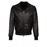 Laverapelle Men's Genuine Cowhide Leather Jacket (Bomber Jacket) - 1501088