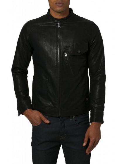 Laverapelle Men's Genuine Cowhide Leather Jacket (Racer Jacket) - 1501550