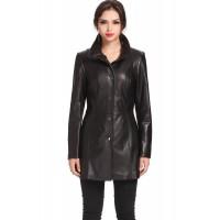 Laverapelle Women's Genuine Lambskin Leather Coat (Long Coat) - 1522695