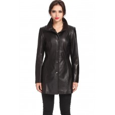 Laverapelle Women's Genuine Lambskin Leather Coat - 1510695