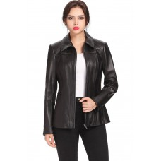 Laverapelle Women's Genuine Lambskin Leather Coat - 1510660