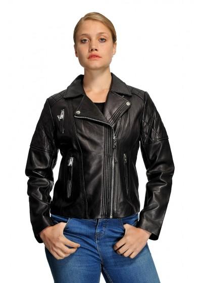 Laverapelle Women's Genuine Lambskin Leather Jackets - 1510763