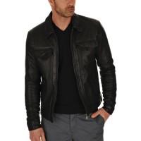 Laverapelle Men's Genuine Lambskin Leather Jacket (Regal Jacket) - 1501085