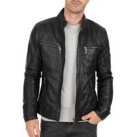 Laverapelle Men's Genuine Cowhide Leather Jacket (Racer Jacket) - 1501500