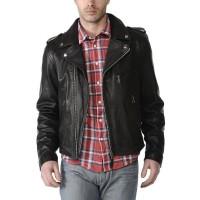 Laverapelle Men's Genuine Cowhide Leather Jacket (Double Rider Jacket) - 1501546