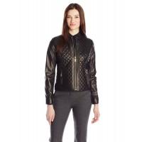Laverapelle Women's Black Genuine Lambskin Leather Jacket  - 1510686