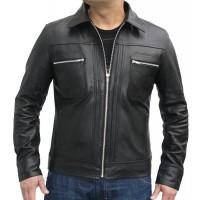 Laverapelle Men's Genuine Lambskin Leather Jacket (Classic Jacket) - 1501153