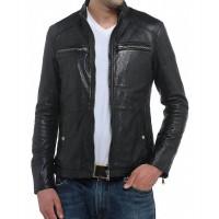 Laverapelle Men's Genuine Lambskin Leather Jacket (Classic Jacket) - 1501217