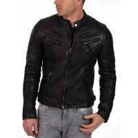 Laverapelle Men's Genuine Lambskin Leather Jacket (Classic Jacket) - 1501268