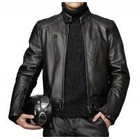 Laverapelle Men's Genuine Lambskin Leather Jacket (Racer Jacket) - 1501314