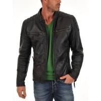 Laverapelle Men's Genuine Lambskin Leather Jacket (Fencing Jacket) - 1501225