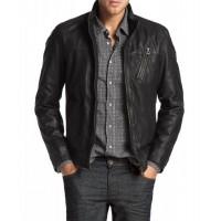 Laverapelle Men's Genuine Lambskin Leather Jacket (Racer Jacket) - 1501183