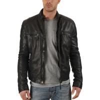 Laverapelle Men's Genuine Lambskin Leather Jacket (Racer Jacket) - 1501179