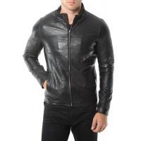 Laverapelle Men's Genuine Lambskin Leather Jacket (Racer Jacket) - 1501169