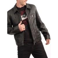 Laverapelle Men's Genuine Lambskin Leather Jacket (Aviator Jacket) - 1501214