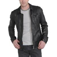 Laverapelle Men's Genuine Lambskin Leather Jacket (Aviator Jacket) - 1501221