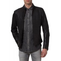 Laverapelle Men's Genuine Lambskin Leather Jacket (Racer Jacket) - 1501340