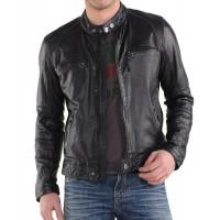 Laverapelle Men's Genuine Lambskin Leather Jacket (Racer Jacket) - 1501220