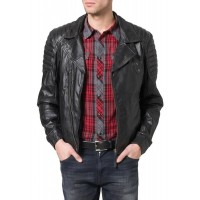 Laverapelle Men's Genuine Lambskin Leather Jacket (Double Rider Jacket) - 1501380