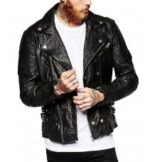 Laverapelle Men's Genuine Lambskin Leather Jacket (Rocker Jacket) - 1501142