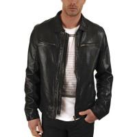 Laverapelle Men's Genuine Lambskin Leather Jacket (Aviator Jacket) - 1501336