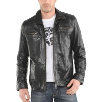 Laverapelle Men's Genuine Lambskin Leather Jacket (Aviator Jacket) - 1501378