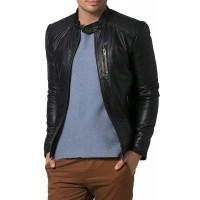 Laverapelle Men's Genuine Lambskin Leather Jacket (Racer Jacket) - 1501193