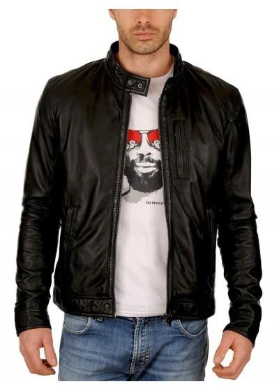 Laverapelle Men's Genuine Lambskin Leather Jacket (Classic Jacket) - 1501248