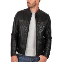 Laverapelle Men's Genuine Lambskin Leather Jacket (Racer Jacket) - 1501254