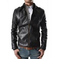 Laverapelle Men's Genuine Lambskin Leather Jacket (Fencing Jacket) - 1501303