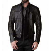 Laverapelle Men's Genuine Lambskin Leather Jacket (Fencing Jacket) - 1501366