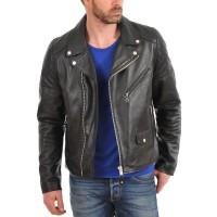 Laverapelle Men's Genuine Lambskin Leather Jacket (Double Rider Jacket) - 1501001