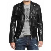 Laverapelle Men's Genuine Lambskin Leather Jacket (Double Rider Jacket) - 1501031
