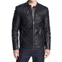 Laverapelle Men's Genuine Lambskin Leather Jacket (Racer Jacket) - 1501021