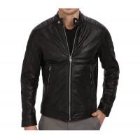 Laverapelle Men's Genuine Lambskin Leather Jacket (Racer Jacket) - 1501026