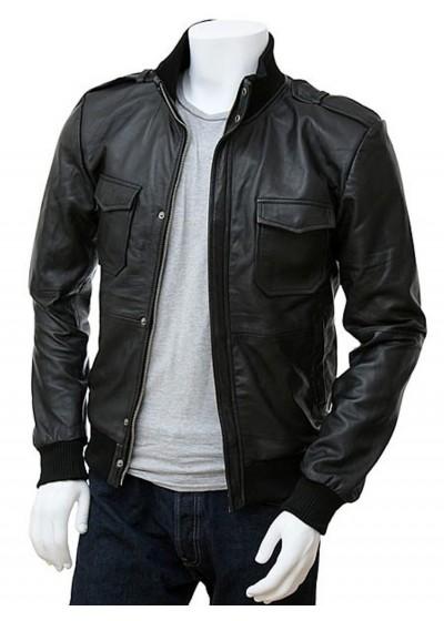 Laverapelle Men's Genuine Lambskin Leather Jacket (Bomber Jacket) - 1501019