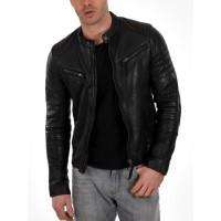 Laverapelle Men's Genuine Lambskin Leather Jacket (Racer Jacket) - 1501025