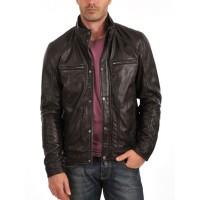 Laverapelle Men's Genuine Lambskin Leather Jacket (Fencing Jacket) - 1501063