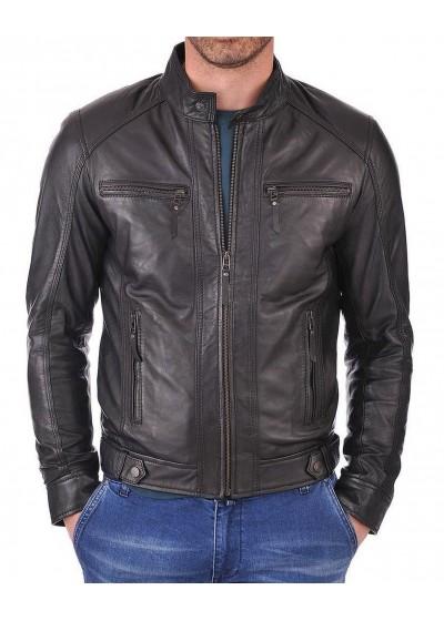 Laverapelle Men's Genuine Lambskin Leather Jacket (Racer Jacket) - 1501058