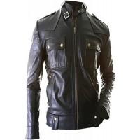 Laverapelle Men's Genuine Lambskin Leather Jacket (Officer Jacket) - 1501075