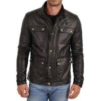 Laverapelle Men's Genuine Lambskin Leather Jacket (Officer Jacket) - 1501024