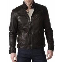 Laverapelle Men's Genuine Lambskin Leather Jacket (Racer Jacket) - 1501018