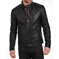 Laverapelle Men's Genuine Lambskin Leather Jacket (Racer Jacket) - 1501069