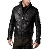 Laverapelle Men's Genuine Lambskin Leather Jacket (Fencing Jacket) - 1501071