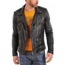 Laverapelle Men's Genuine Lambskin Leather Jacket (Double Rider Jacket) - 1501009