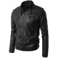 Laverapelle Men's Genuine Cowhide Leather Jacket (Regal Jacket) - 1501652