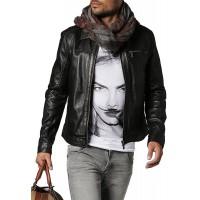 Laverapelle Men's Genuine Cowhide Leather Jacket (Aviator Jacket) - 1501650