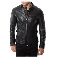 Laverapelle Men's Genuine Lambskin Leather Jacket (Racer Jacket) - 1501472