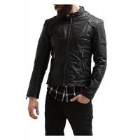 Laverapelle Men's Genuine Lambskin Leather Jacket (Racer Jacket) - 1501527